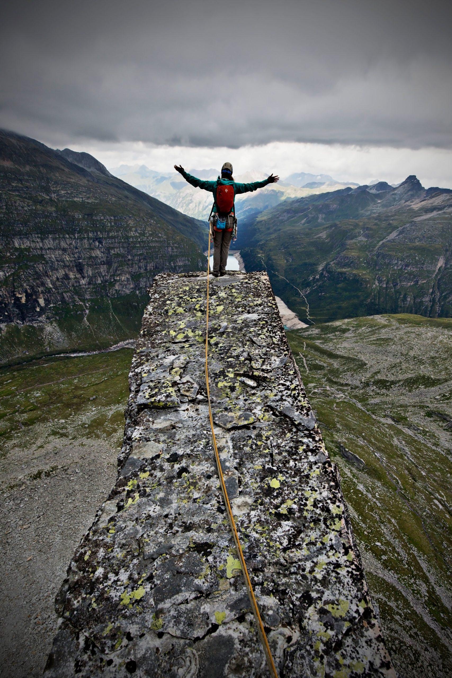 Gipfelgefühl beim Klettern