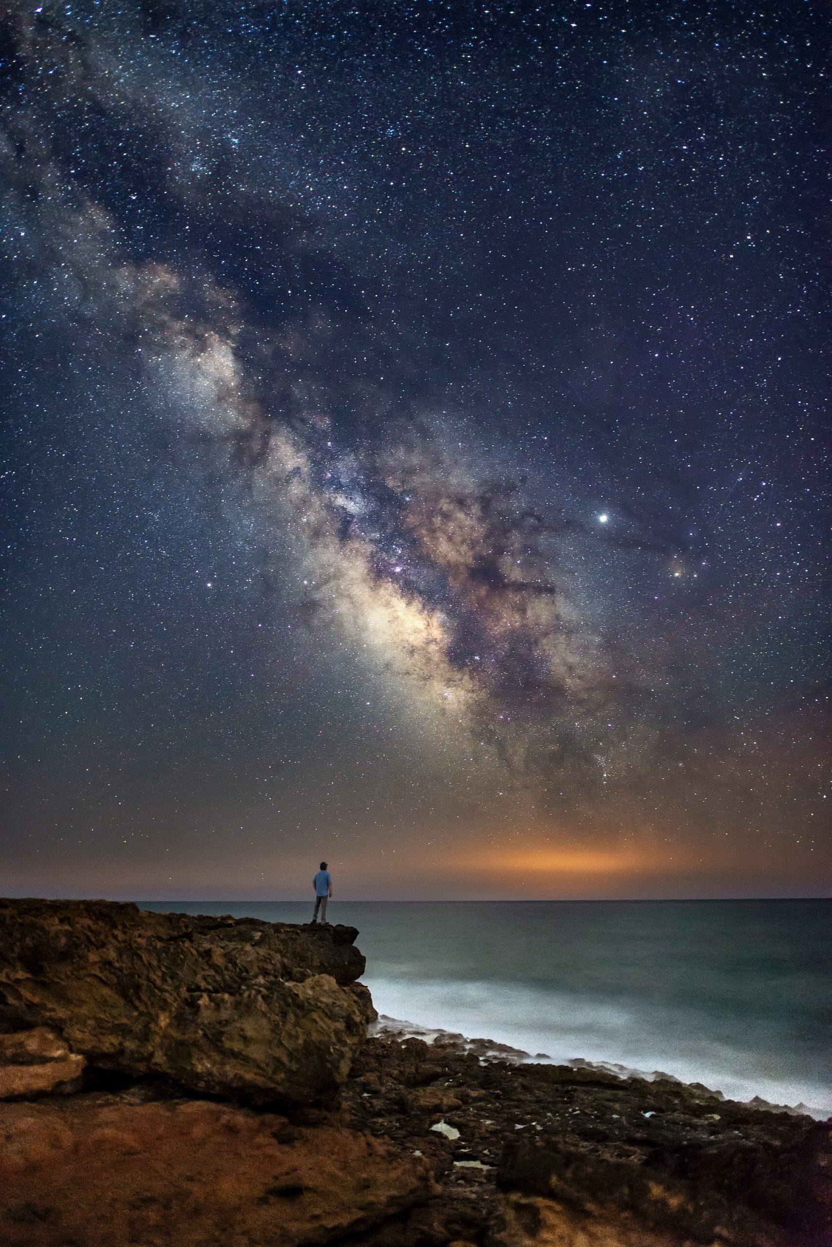 Sternhimmel am Meer